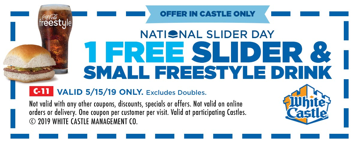 Coupon for 1 Free Slider & Small Freestyle Drink - undefined